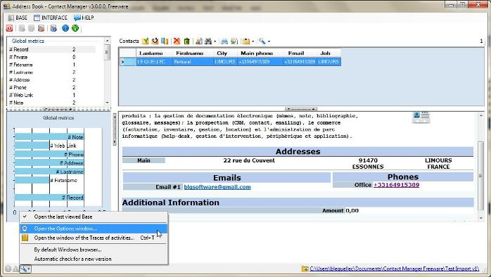 Click to view Contact Manager freeware screenshots