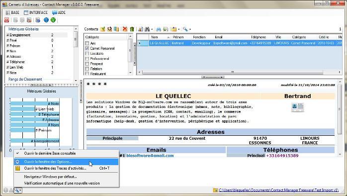 Logiciel contact manager edition freeware adware for Imprimer depuis outlook